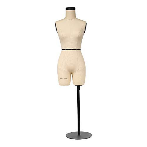 DE-LIANG Manichino Sartoriale Corpo Femminile manichino Cucito 1 2 Size 43cm Height Sewing Miniature Dressmaker Dummy Female Torso Tailor Model for Draping (Size:Not Adult Full Size)