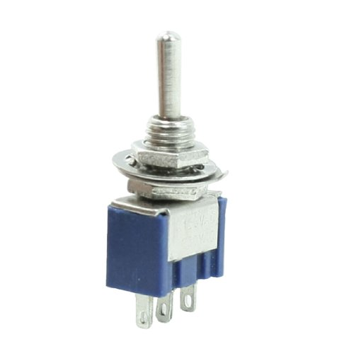 IIVVERR 6A/125VAC 3A/250VAC 3-Pin SPST On/Off/On 3 Posiciones Latching Mini Switch (6A/125VAC 3A/250VAC 3-Pin SPST Encendido/Apagado/Encendido Interruptor de palanca de bloqueo de 3 posic