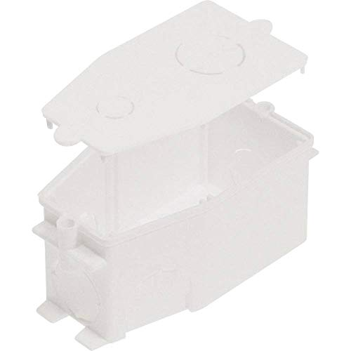 Wandleuchten Auslassdose mit Deckel, Weiß