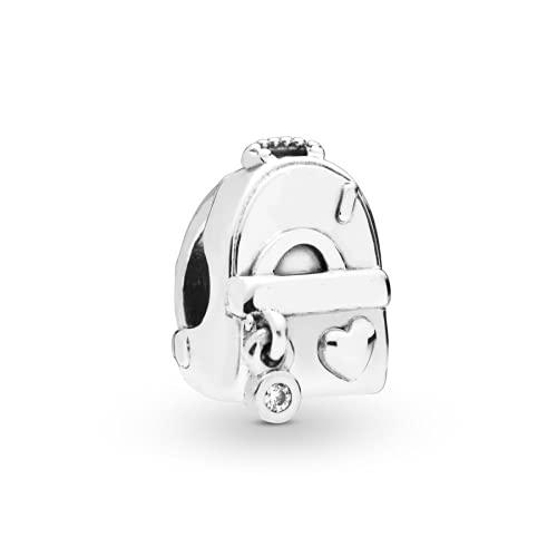 ZHANGCHEN 925 Sterling Silver Bead Adventure Bag Charm Fit Fashion Women Pan Bracelet Bangle Gift DIY Jewelry