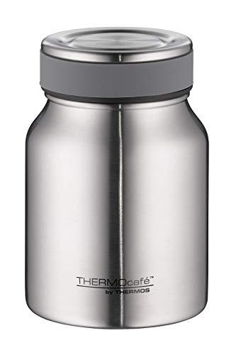 ThermoCafé by THERMOS Thermobehälter für Essen, Edelstahl mattiert 500ml - Isolier-Speisegefäß für Suppe oder Müsli, dicht, spülmaschinenfest, 9 Stunden heiß, 14 Stunden kalt, BPA-Free - 4077.205.050