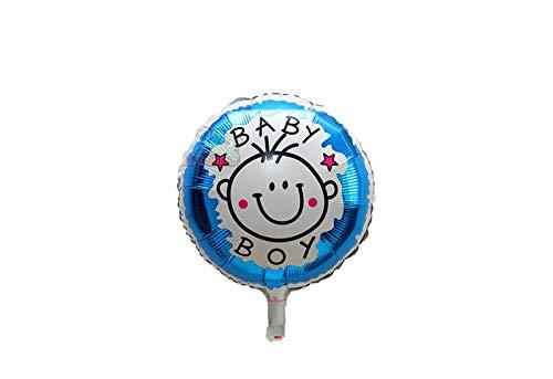 Grote XL blauwe ronde ballon its a boy voor geboorte jongen 40 cm