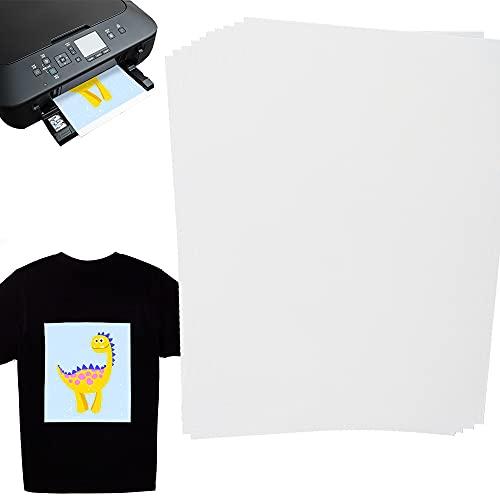 Speyang Papel de Transferencia Fácil de usar.(A4x20 hojas), Papel de Transferencia de Tinta Para Camisetas de Blancas y Claras, Papel de Transferencia Para Tela Ligera, Photo Transfer Paper