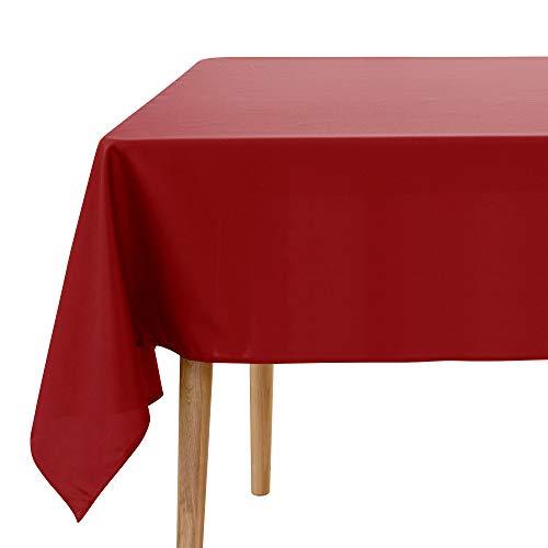 UMI. Essentials - Mantel Mesa Comedor Manteles para Restaurantes Comedor Cocina 130 x 280 cm Rojo