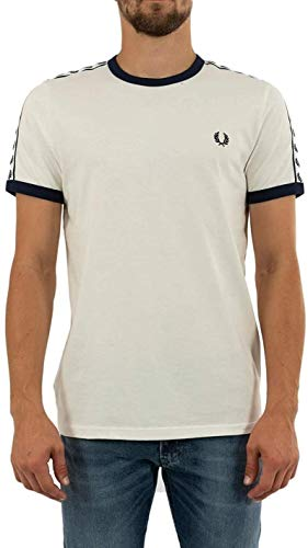 """Fred Perry Taped Ringer T-Shirt """"Snow"""", Maglietta - XS"""
