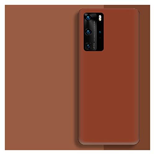 Protector de pantalla de silicona líquida original para Huawei P30 P20 P40 Mate 20 30 Honor 20 Lite Pro P Smart 2019 Funda protectora suave de lujo (color: marrón, tamaño: para Honor 10 Lite)