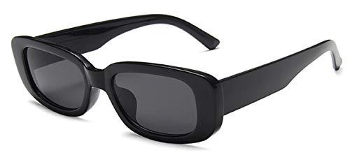 JFAN Gafas de sol Rectangulares para Mujeres Hombres Gafas pequeñas Retro con Protección UV400 de Marco Cuadrado