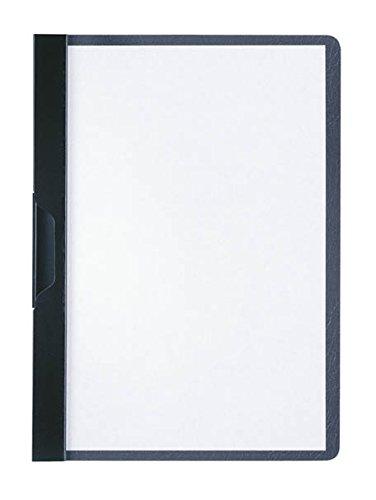 Durable 221701 Klemm-Mappe Duraclip A5, Hartfolie, bis 30 Blatt A5, schwarz, 25er Packung