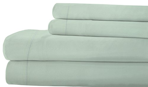 RDM Koncept LA Touche Collection T300 Sheet Set Solid Combed Cotton Sateen King Taupe