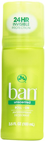 Ban Roll-On Antiperspirant Deodorant, Unscented, 3.5 oz