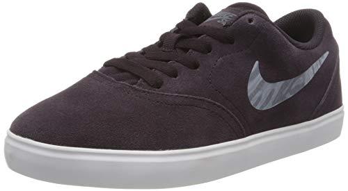 Nike Unisex-Kinder Sb Check Suede (Gs) Walking-Schuh, Blau (BURGUNDY ASH/MTLC BLUE DUSK-WH), 39 EU