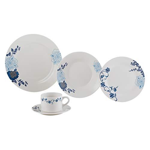 Aparelho de Jantar 20 Peças de Porcelana Classic Lyor Branco Único