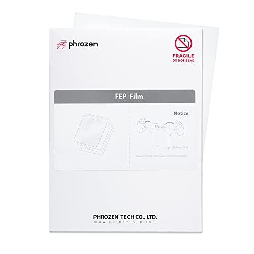 Película FEP de Phrozen (tamaño A4, 210 X 297 mm), para todas las impresoras 3D de resina LCD, Sonic Mini 4K, Sonic Mighty...