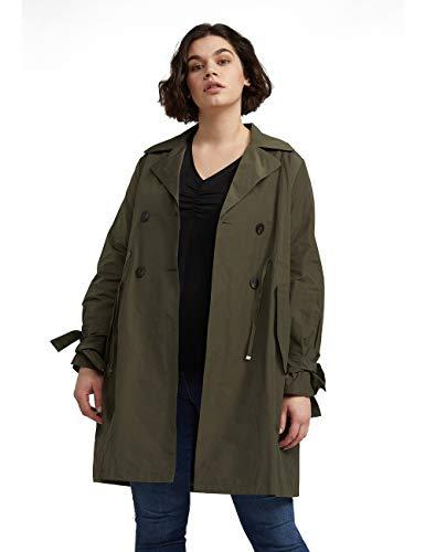 Fiorella Rubino : Trench Verde 46 (37) Donna (Plus Size)