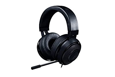 RAZER KRAKEN PRO V2: Lightweight Aluminum Headband - Retractable Mic - In-Line Remote - Gaming Headset Works with PC, PS4, Xbox One, Switch, & Mobile Devices - Black from Razer Inc