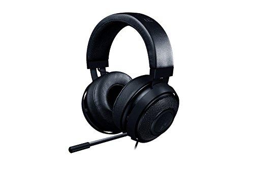 Razer Kraken Pro V2: Leichtes Aluminium-Kopfband - Einziehbares Mikrofon - Inline-Fernbedienung - Gaming-Headset für PC, PS4 und mobile Geräte - Schwarz