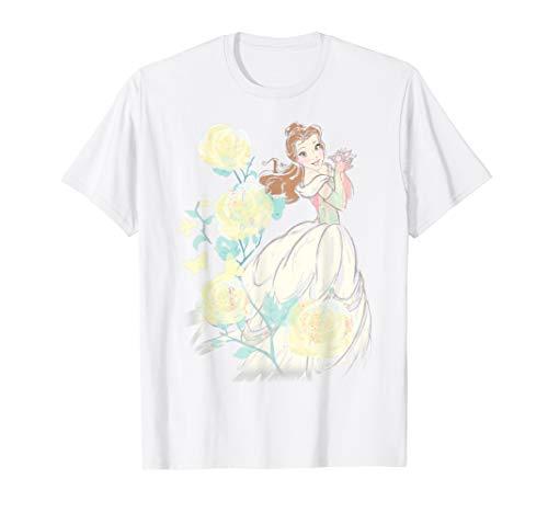 Disney Beauty & The Beast Belle Watercolor Rose T-Shirt