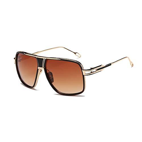 Duulo Gafas de sol de metal grandes para hombres y mujeres