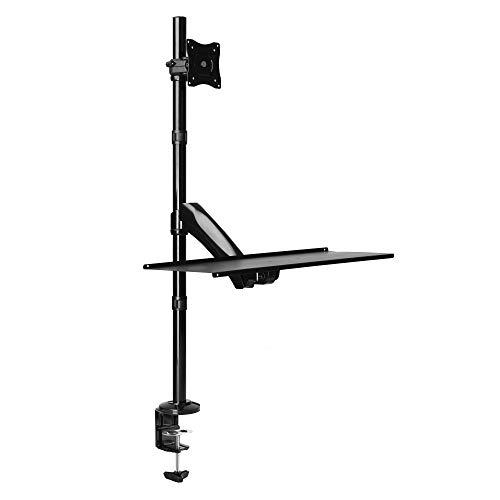 RICOO TS1411 Soporte Monitor Mesa Brazo articulado Giratorio Inclinable Pantalla PC 13-27' (33-69cm) Stand para monitores VESA 75x75 100x100