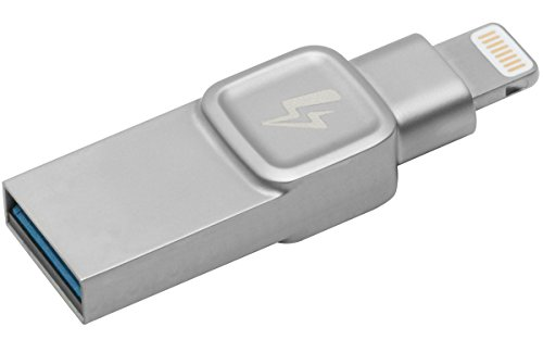 Kingston DataTraveler Bolt Duo C-USB3L-SR32G-EN - Flash, 32 GB Unidad, diseñado para ser Utilizado con Dispositivos iPhone y iPad Funciona con iOS 9.0+, Plateado