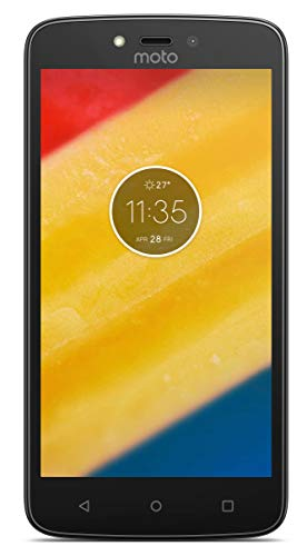 Celular Smartphone Motorola Moto C Plus 16gb 4G Quadcore 2 Chips Tela 5 Flash Fontal Preto