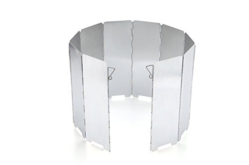 JAMSWALL Parabrisas Aluminio Plegable aleación de Aluminio con 10 Piezas para Comping Stove Protector