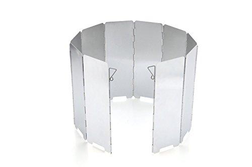 JAMSWALL Windschutz Aluminium Windschutzscheibe Faltbarer Aluminiumlegierung 10 Stücke für Comping BBQ