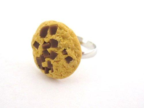 schmuck-stadt Schokoladen Keks Ring Damen Modeschmuck