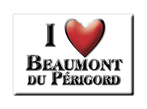 Enjoymagnets Beaumont DU PÉRIGORD (24) Souvenir IMANES DE Nevera Francia Lorraine IMAN Fridge Magnet Corazon I Love