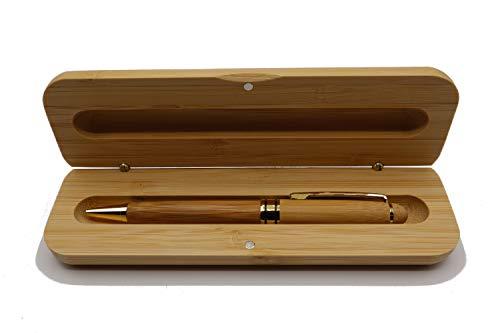 Besonders hochwertiger MORWE Bambus Kugelschreiber | Nachhaltiges und Ökologisches Geschenkset | Büro, Arbeit, Prüfungen, Verträge, Abschlüsse