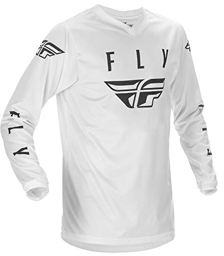 Fly Racing Universal Jersey White Black size Large