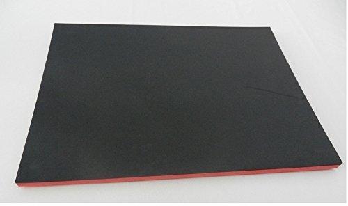 (65 €/m²) Werkzeugeinlage Hartschaumstoff Systemeinlage Schaumeinlage für Werkzeugwagen ca. 600 x 800 x 30 mm, schwarz/rot, Top Industriequalität