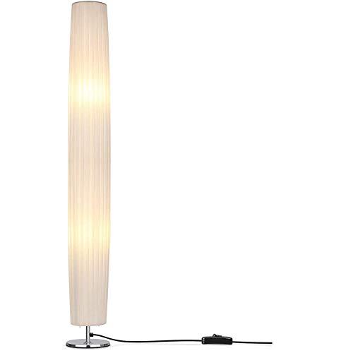 Dongbin Moderne minimalistische LED Stehlampe, 46-Zoll-Hoch Minimalist Moderne Stehleuchte mit Stoffschirm, Moderne Wohnzimmer Sofa Stehlampen für Schlafzimmer, Dorm, Büro,Gelb