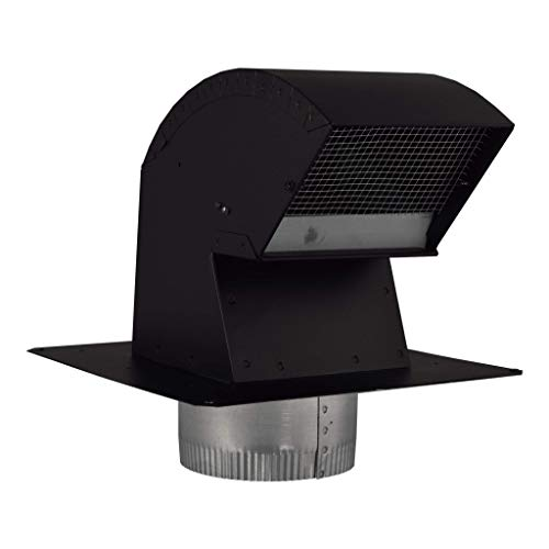 Imperial VT0568 6-Inch R2 Premium Roof Vent Cap with Collar, Black