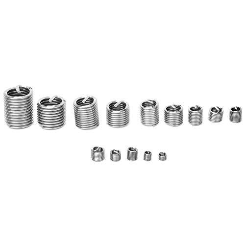 Kit completo de reparación de roscas 120Pcs / set Buje roscado Herramienta de reparación de roscas de acero inoxidable Insertos roscados de alambre en espiral con caja para reparación de
