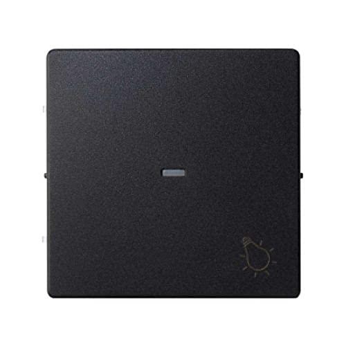 Tecla conmutador, serie 82 Concept, 1 x 5,5 x 5,5 centímetros, color negro mate (referencia: 8200010-098)