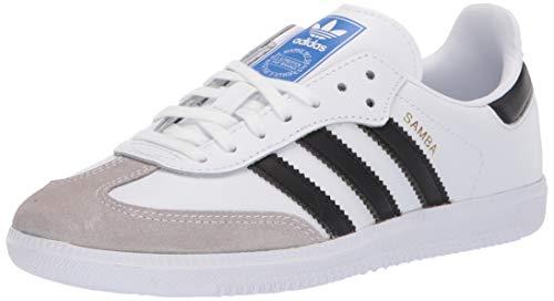 Adidas Youth Samba Original Leather White Black Granite Entrenadores 38 2/3 EU