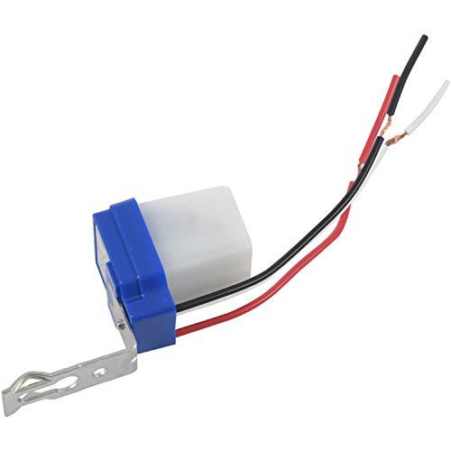 RETYLY Lichtschalter, Wechselstrom, Gleichstrom, 12 V, 10 A, automatisches Ein- und Ausschalten, 2 Stück