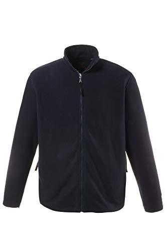 JP 1880 Herren große Größen bis 7 XL, Fleece Jacke, Sweat-Jacke, Stehkragen, Reißverschluss & 2 Taschen, Outdoor Kleidung, navy XL 705552 70-XL