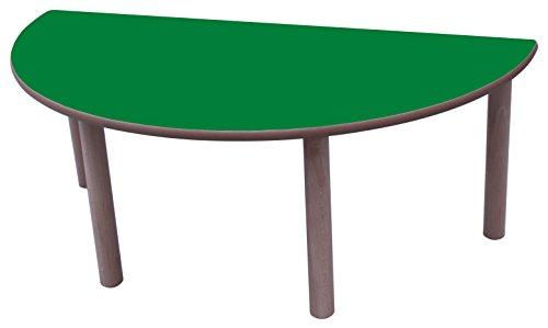 Table Ronde Mobeduc enfant-120 cm 120 cm, Talla 3 Haya y Verde Oscuro