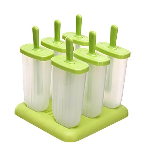 IWILCS Moldes de hielo reutilizables, moldes para helados, set de moldes para helados, juego con 1 embudo y 3 moldes de silicona