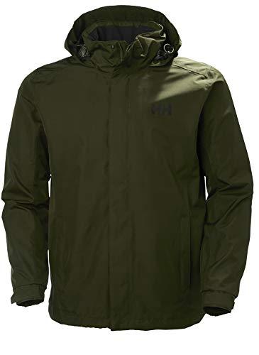 Helly Hansen Dubliner Jacket Chaqueta Chubasquero para Hombre de Uso Diario y para Actividades marítimas con la tecnología Helly Tech, Verde (Forest Night), M