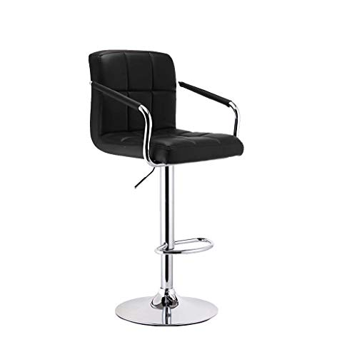 JYDQM Chairs,Bar Stool Chairs Breakfast Dining For Kitchen Counter Leatherette Exterior/Adjustable Swivel Gas Lift/Chrome Steel Footrest;Base Height Adjustable In Synthetic Leather,360° Stool With