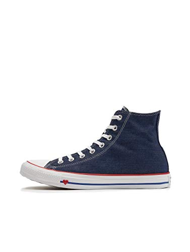 Converse Chuck Taylor All Star, Zapatillas Altas Unisex Adulto, Azul (Indigo/Enamel Red/Blue 000), 36.5 EU