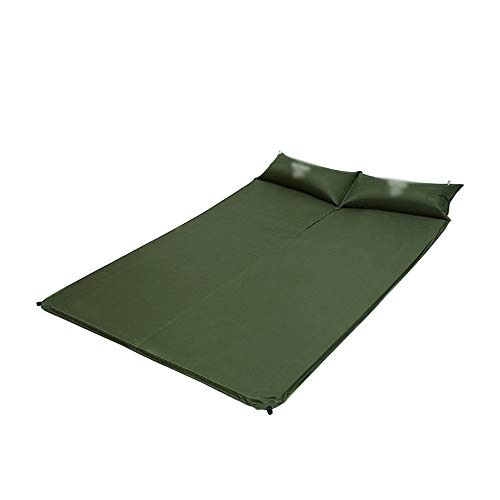 ZCQDJ Opblaasbare pad 190x130x2.5cm Dubbele Slaapkussen Mat Matrassen Zelf Opblaasbare Pads Met 2 Opblaasbare Kussen Voor Camping Tent Beach