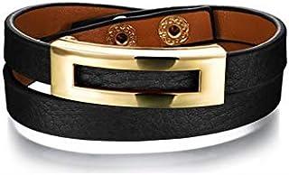 Women's leather wrap bracelet Double-layer surround Bracelet