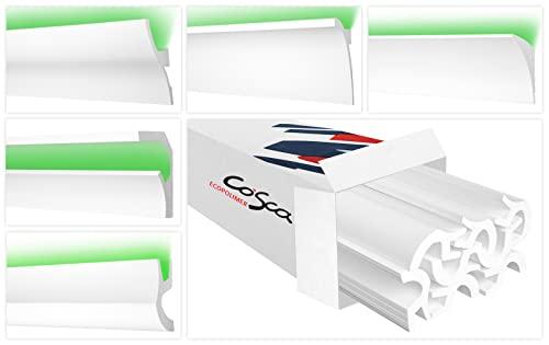 COSCA Listelli LED in Ecopolimero – Parete e soffitto illuminazione indiretta estremamente resistente – (CK24 – Modello) striscia LED in polistirolo profilo decorativo