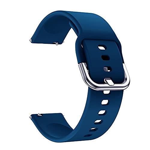 Pulseira Samsung Galaxy Watch Active 2 , 40mm , 44mm - Gear S2 Classic - Gear Sport R600 - Galaxy Watch 42mm - Amazfit Bip - 20mm (Azul escuro)