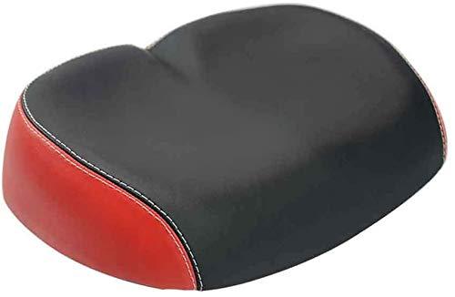 HH-LIFE Sillín de bicicleta sin sentir, cojín acolchado para asiento de bicicleta, cómodo asiento de bicicleta para carretera/montaña/bicicleta plegable (rojo)