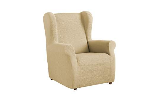 Textil-home Stretchhusse für Ohrensessel TEIDE, 1 Sitzer - 70 a 100Cm. Farbe Beige